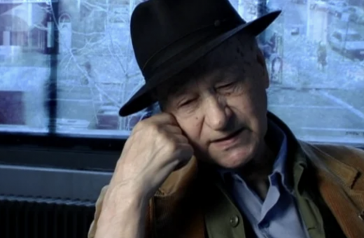 Still from Jonas Mekas interview.