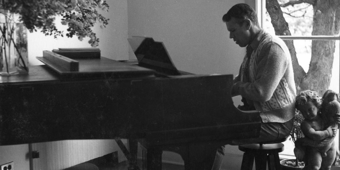 Jerome at piano