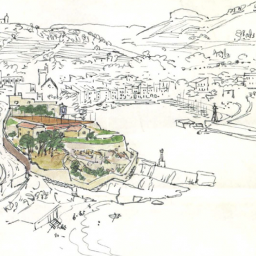 Jerome Hill, ink drawing of Cassis