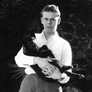 Jerome Hill with his dog.